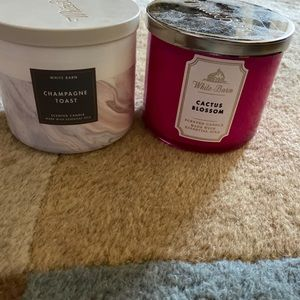 Two 3 wick candles bath and body works